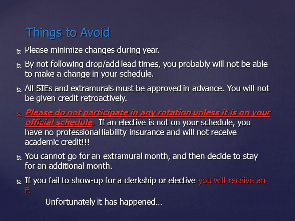  Please minimize changes during year.