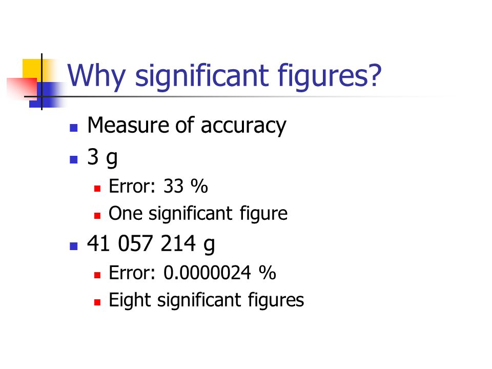 Why significant figures.
