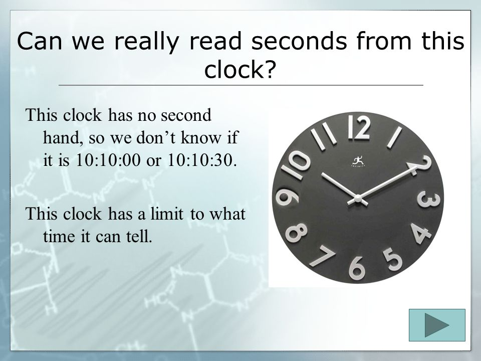 Each time given depends on… what type of clock a person is reading! The clock here shows the hours and 5 minute increments. What time is it on this cl