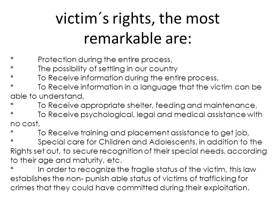 Rescued víctims Since the enactment of the law 26364 (Prevention and Sanction of Trafficking Persons and assistance to victims) there have been rescued a total of 4602 victims in the context of 2103 raids.