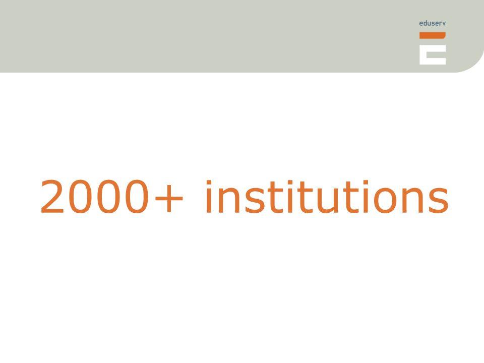 2000+ institutions
