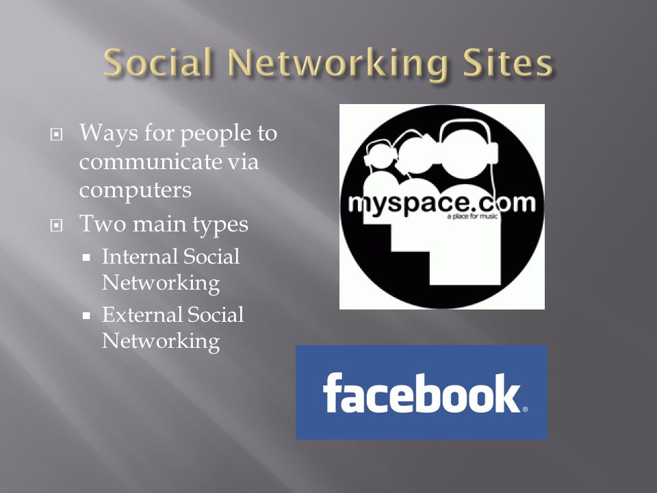  Friendship Sites  Creation and maintenance  Quickness and ease of sharing info  Up to date  Romance Sites  Larger group of people  Easier to find match  Work Related Sites  Connect with coworkers  Coworkers/projects that meet interests  Easy company-wide communication
