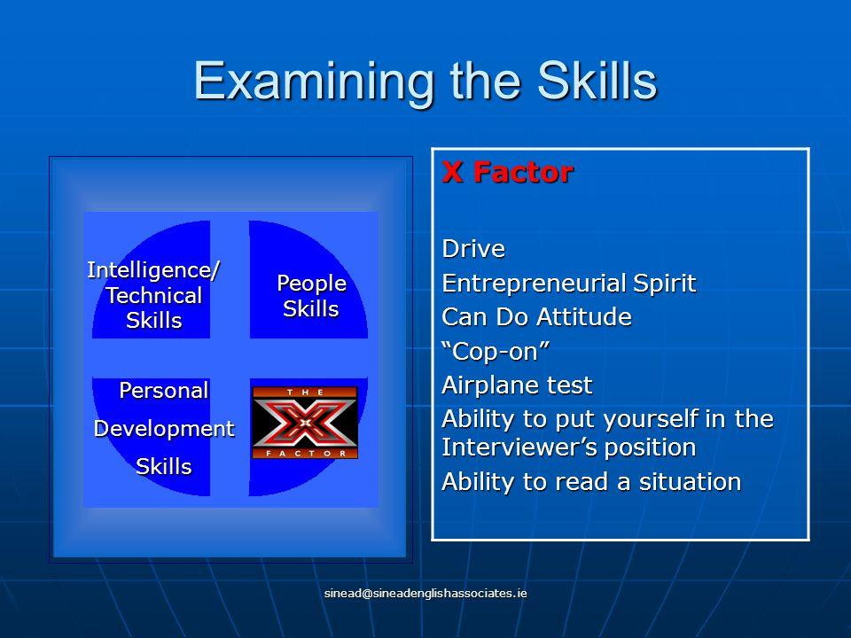sinead@sineadenglishassociates.ie What do Employers want.
