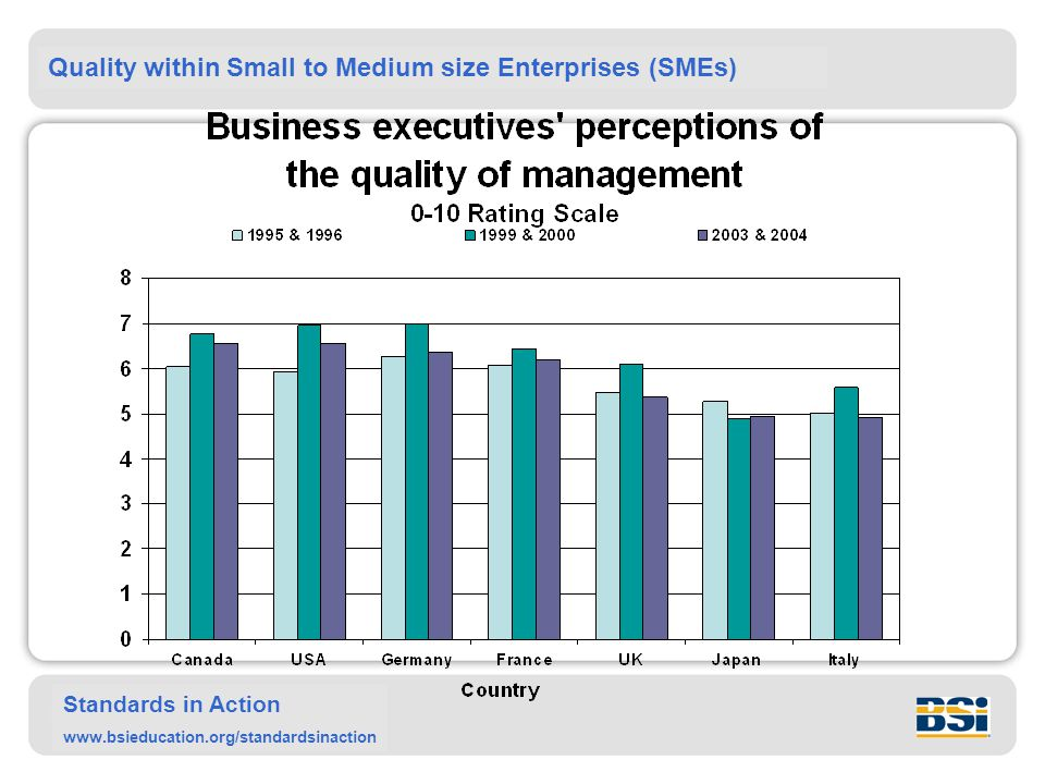 Quality within Small to Medium size Enterprises (SMEs) Standards in Action www.bsieducation.org/standardsinaction