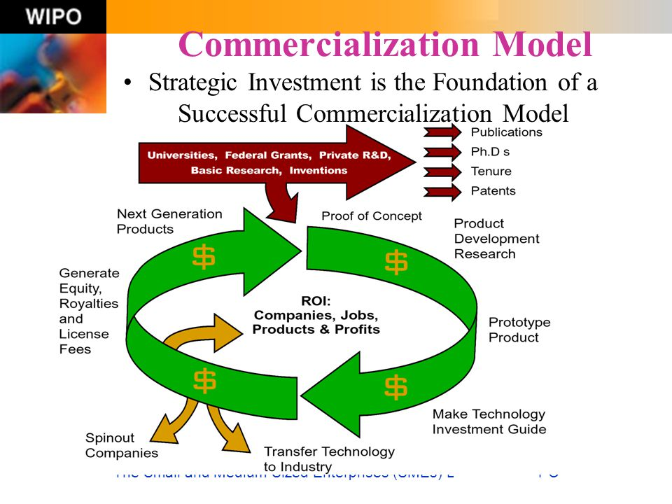 The Small and Medium-Sized Enterprises (SMEs) Division of WIPO Commercialization Model Strategic Investment is the Foundation of a Successful Commerci