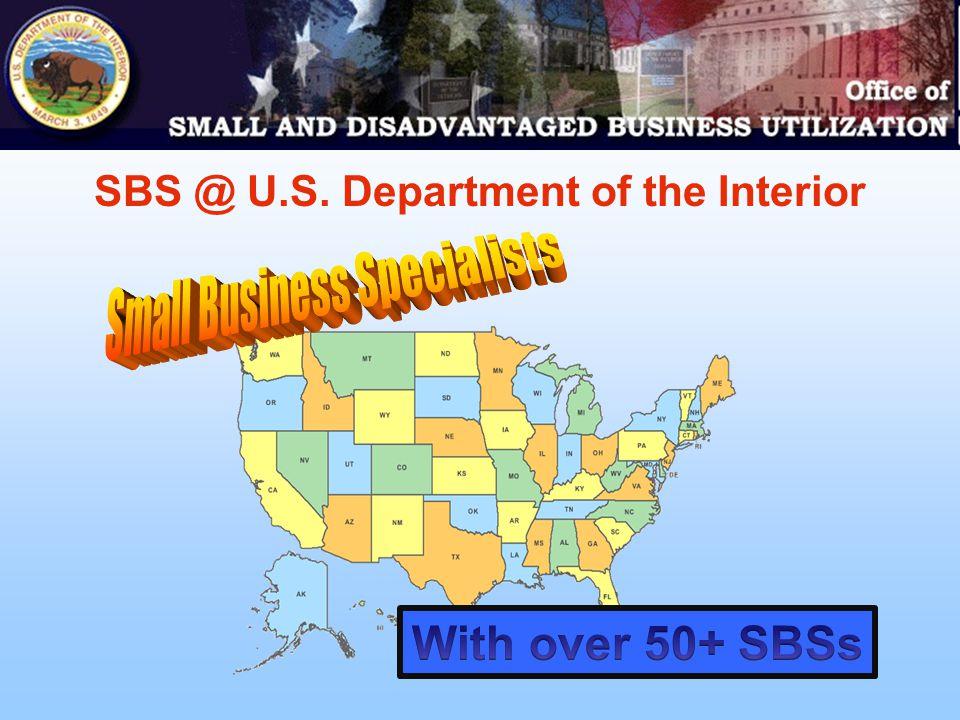 SBS @ U.S. Department of the Interior