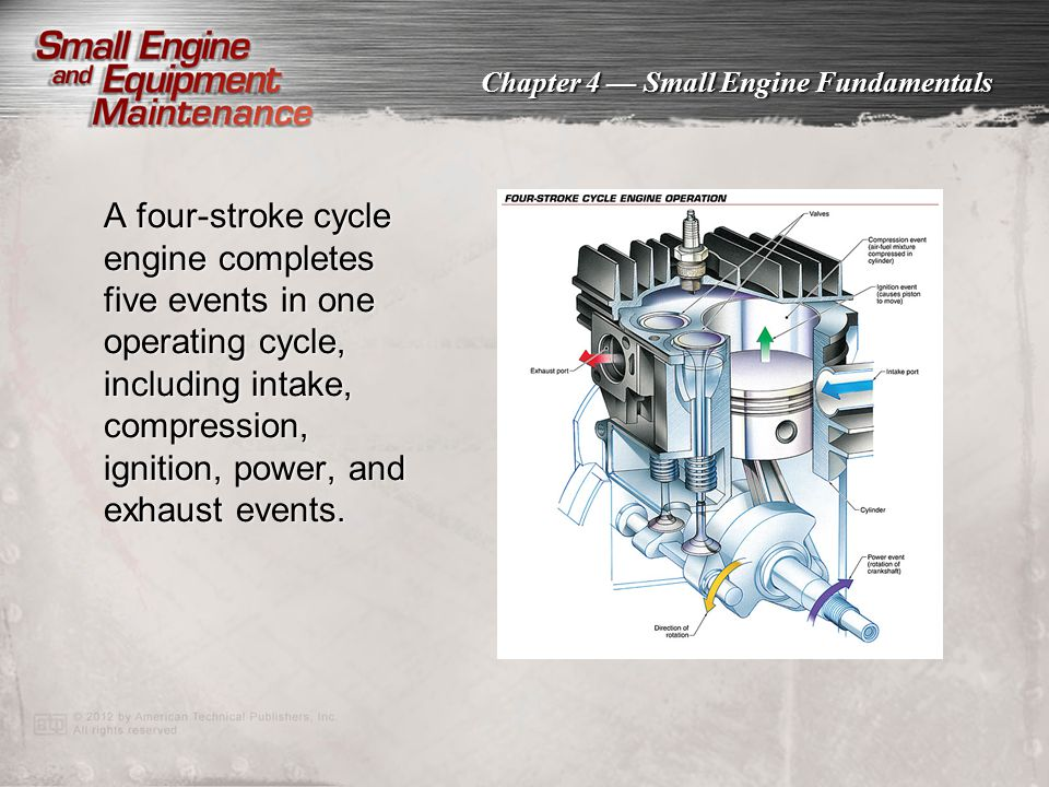 Chapter 4 — Small Engine Fundamentals A mechanical governor uses the gears and flyweights inside a crankcase as speed-sensing devices to detect changes in a load and adjusts the throttle accordingly.