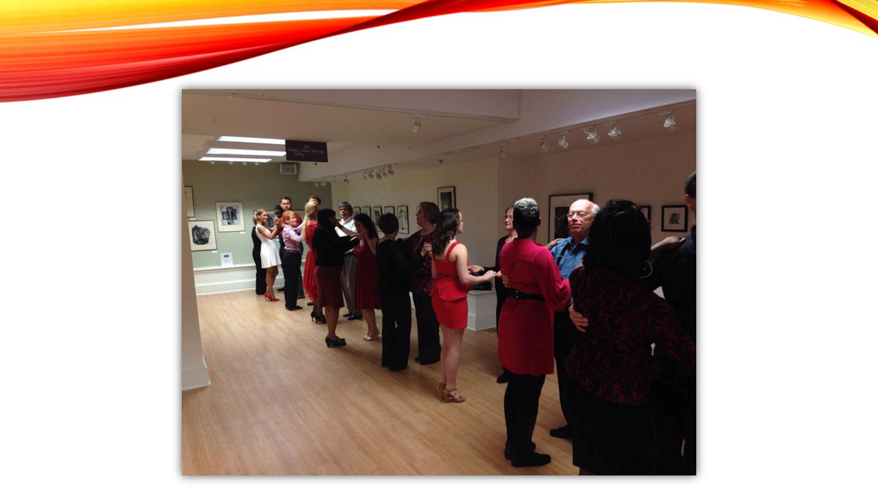 ART IN MOTION ~ SALSA SERIES Use dance to draw the community into art galleries and grow their interest in the arts!
