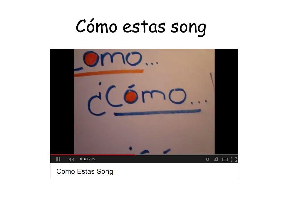 Hola amigos lyrics Hola amigos Ya salió el sol Vamos a cantar y hablar en espanol ¿Cómo estás? ¿Cómo estás? ¿Cómo estás? Muy bien gracias!
