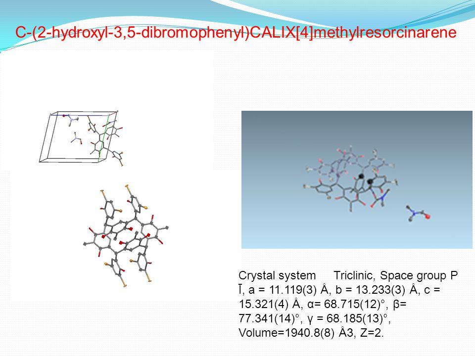 Crystal system Triclinic, Space group P Ī, a = 11.119(3) Å, b = 13.233(3) Å, c = 15.321(4) Å, α= 68.715(12)°, β= 77.341(14)°, γ = 68.185(13)°, Volume=1940.8(8) Å3, Z=2.