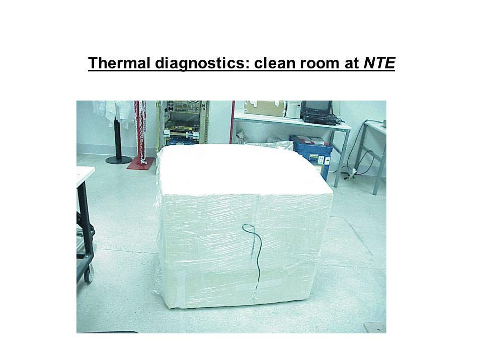 Thermal diagnostics: clean room at NTE