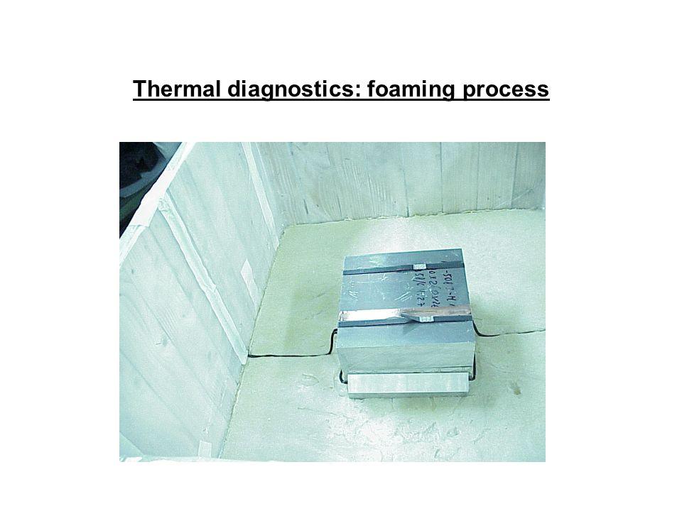 Thermal diagnostics: foaming process