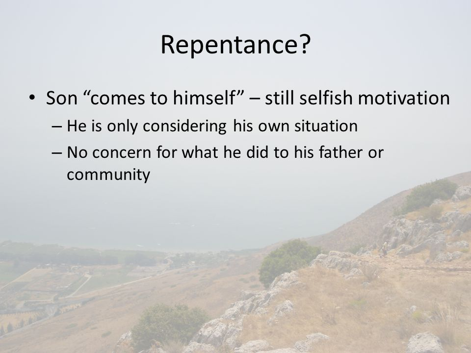 Repentance.