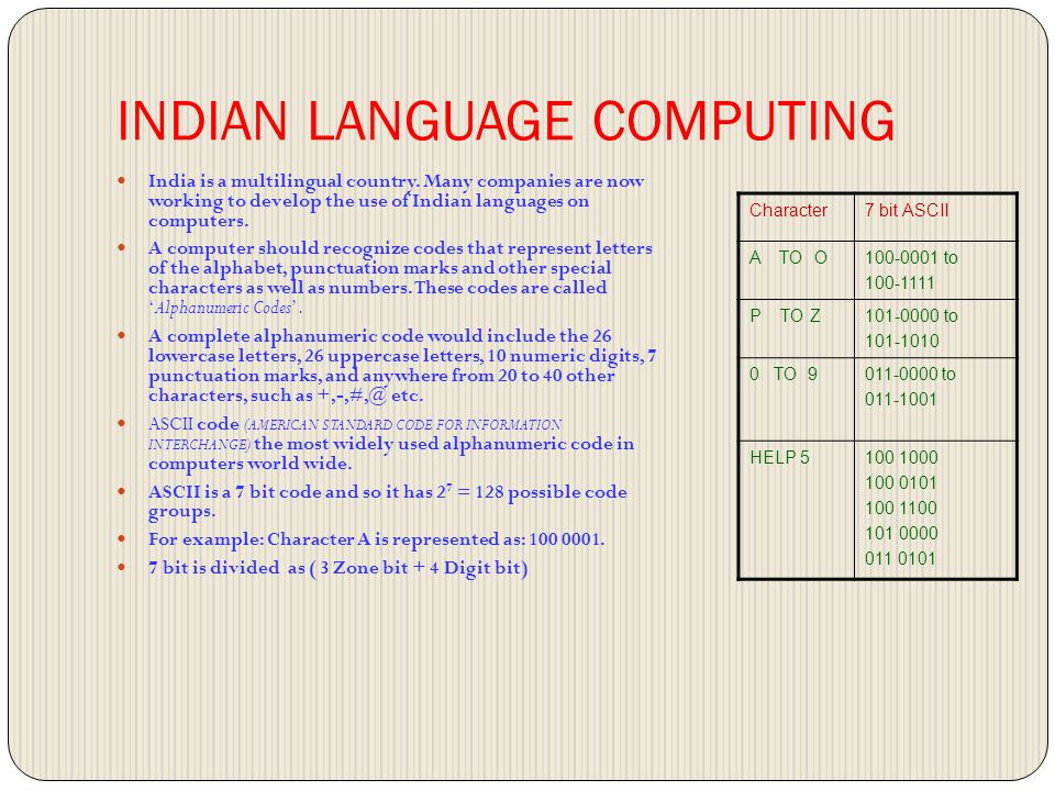 INDIAN LANGUAGE COMPUTING India is a multilingual country.