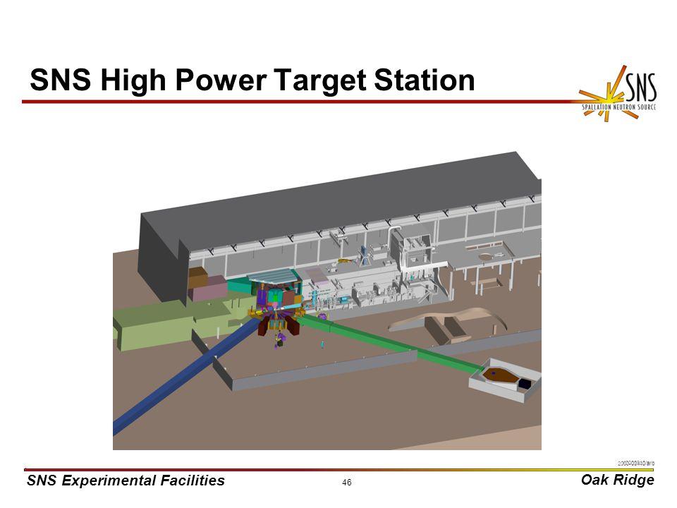 SNS Experimental Facilities Oak Ridge X0000910/arb 46 SNS High Power Target Station 2000-03440/arb