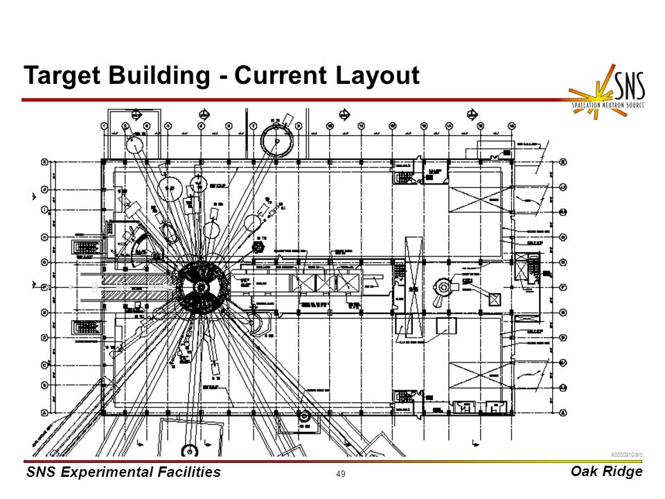 SNS Experimental Facilities Oak Ridge X0000910/arb 49 Target Building - Current Layout