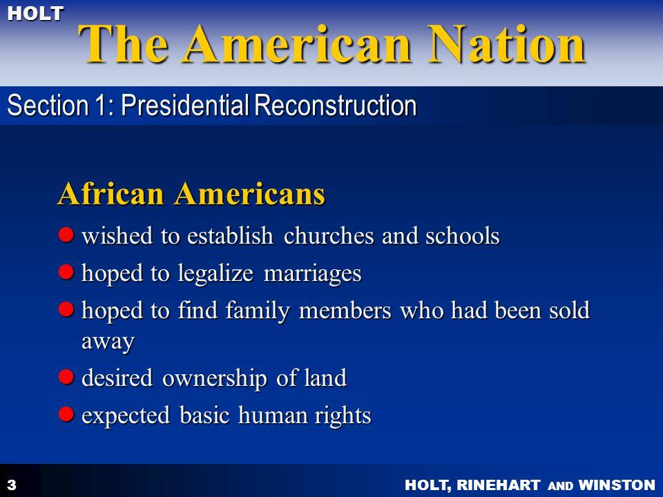 HOLT, RINEHART AND WINSTON The American Nation HOLT 24 Booker T.