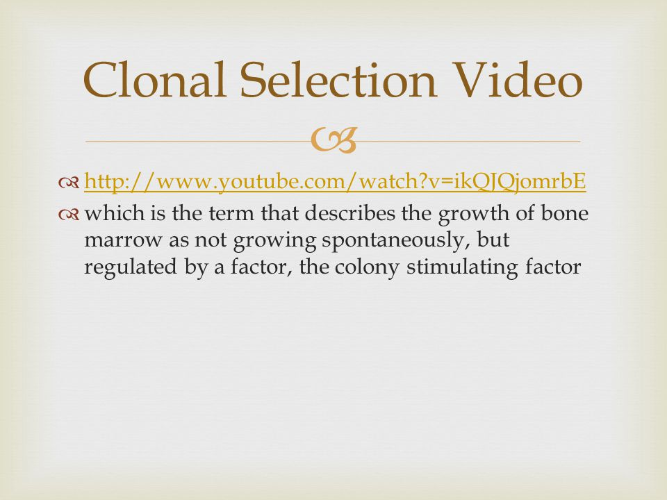   http://www.youtube.com/watch?v=ikQJQjomrbE http://www.youtube.com/watch?v=ikQJQjomrbE  which is the term that describes the growth of bone marrow