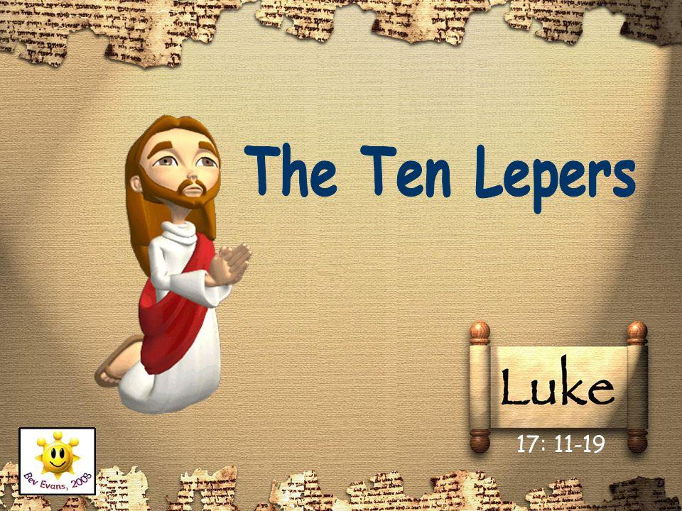 One day, as Jesus was travelling, he met ten lepers.