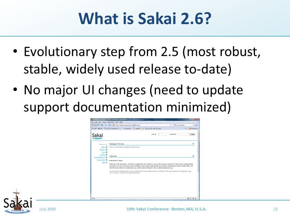 What is Sakai 2.6.