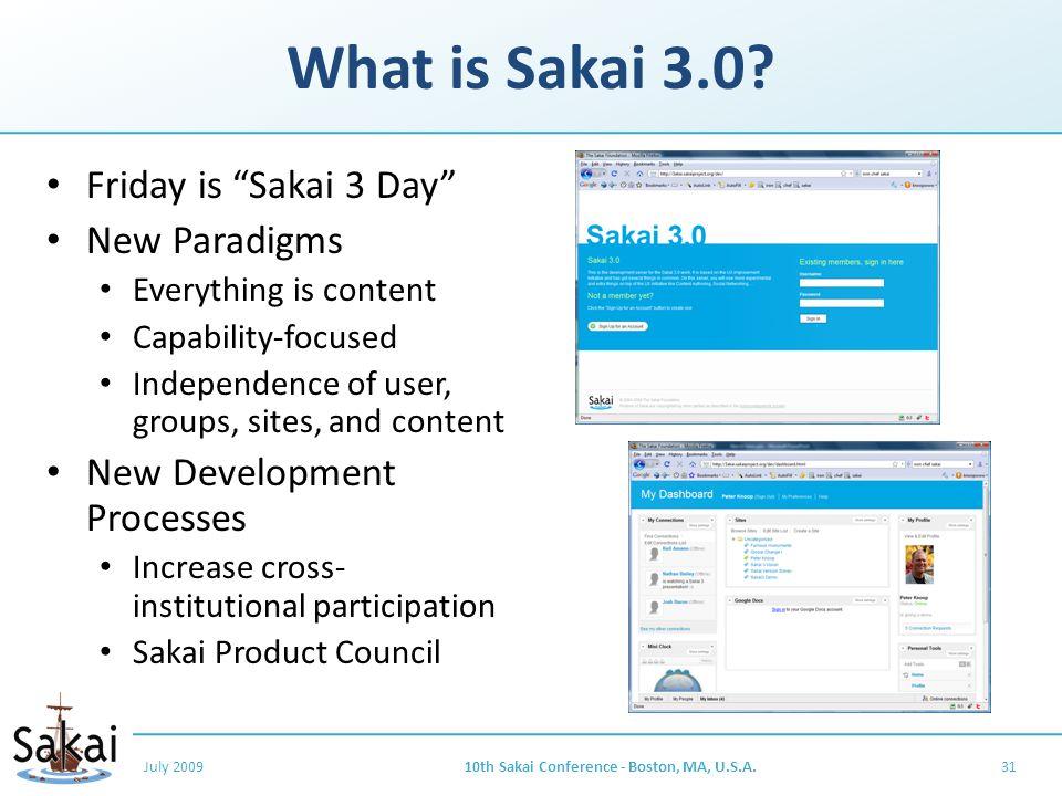 What is Sakai 3.0.
