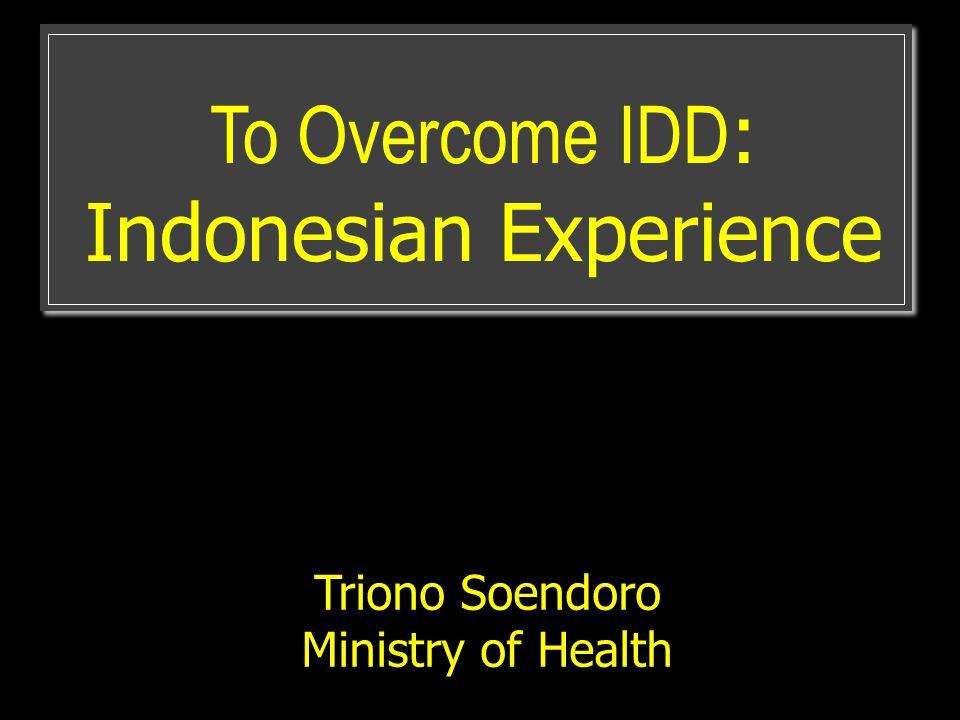 The Purpose: PHDI Describe public health development progress for entire districts in Indonesia Focused programs interventions (local specific) in each districts.
