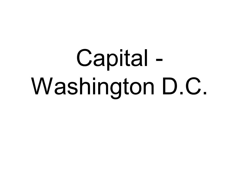 Capital - Washington D.C.