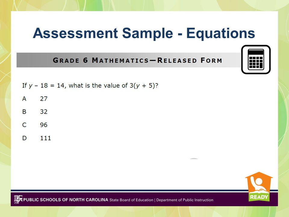Assessment Sample - Equations
