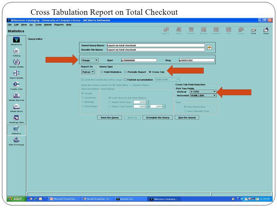 Cross Tabulation Report on Total Checkout