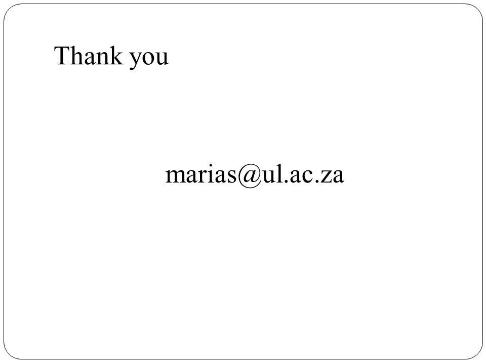 Thank you marias@ul.ac.za