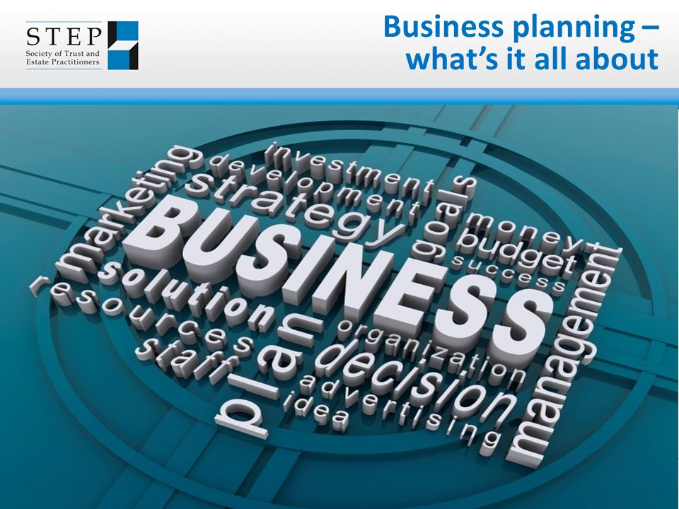 Business planning – what's it all about
