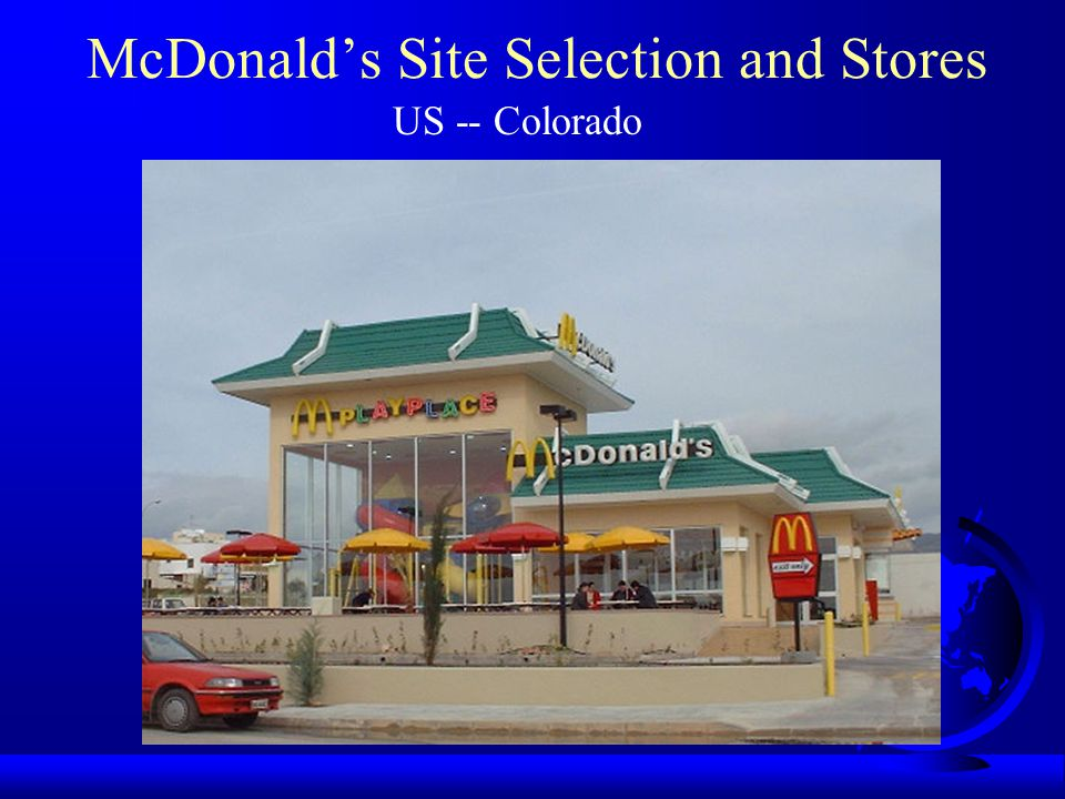 McDonald's Site Selection and Stores US -- Colorado