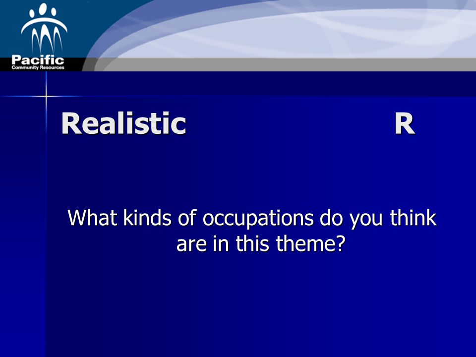 RealisticR What kinds of occupations do you think are in this theme