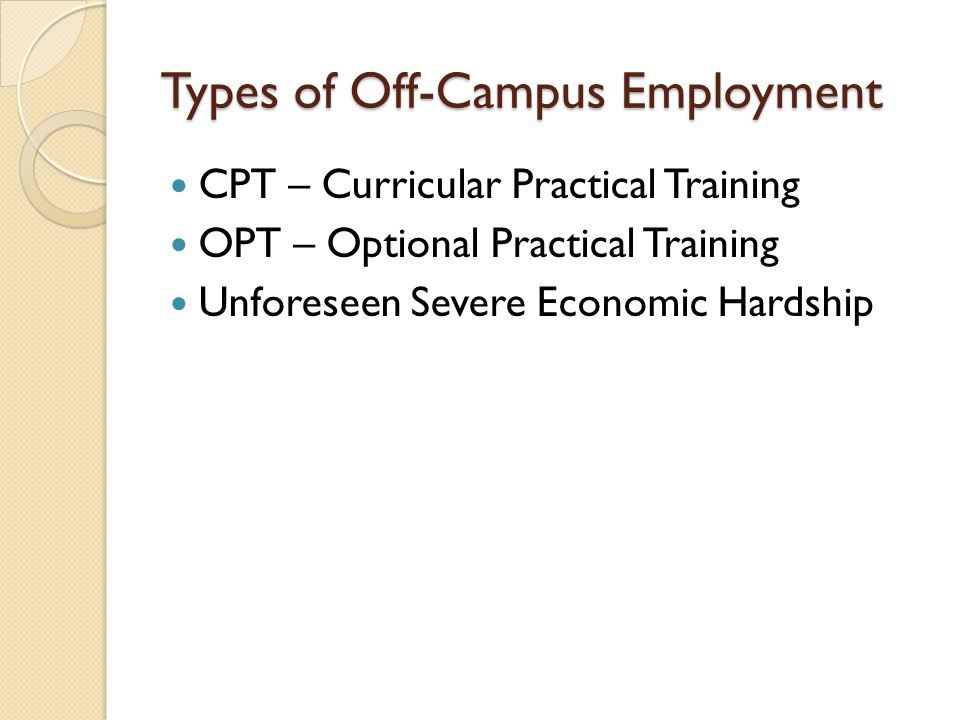17-Month STEM Extension ◦ You MUST stay in touch with IPS and report any changes of address / employment / visa status.