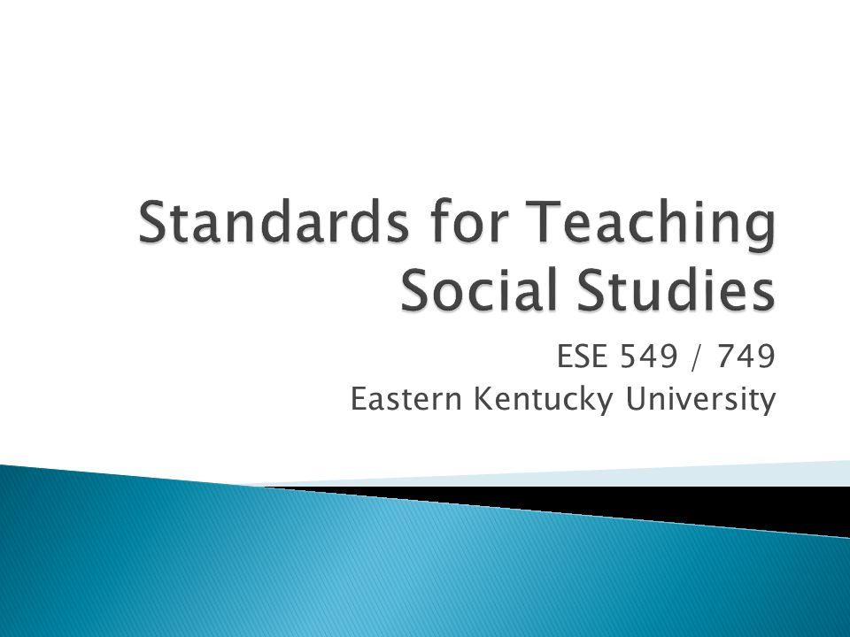ESE 549 / 749 Eastern Kentucky University