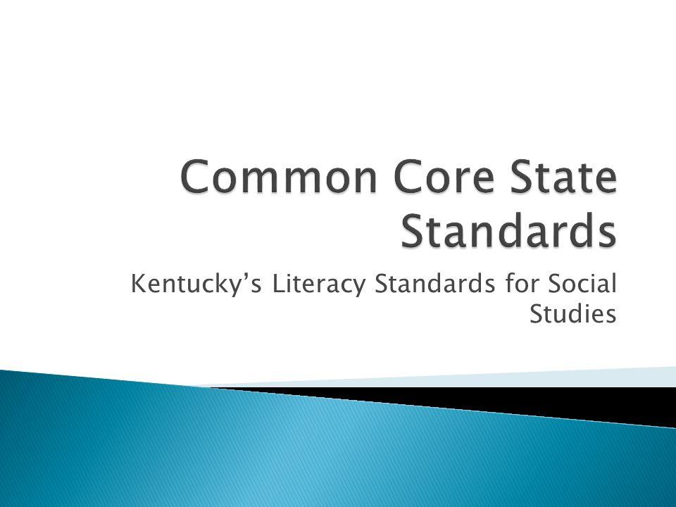 Kentucky's Literacy Standards for Social Studies