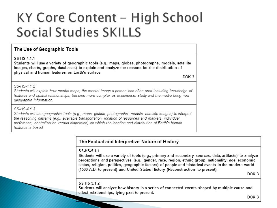 ACT Course Standards—U.S.History A. Exploring the Skills and Strategies Underlying U.S.