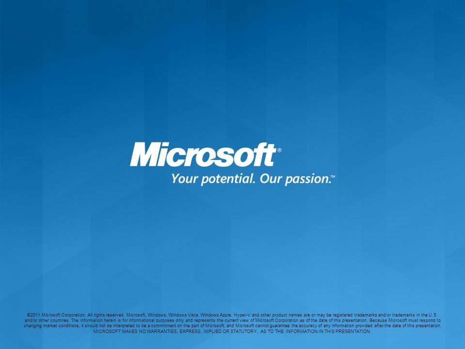 ©2011 Microsoft Corporation.All rights reserved.