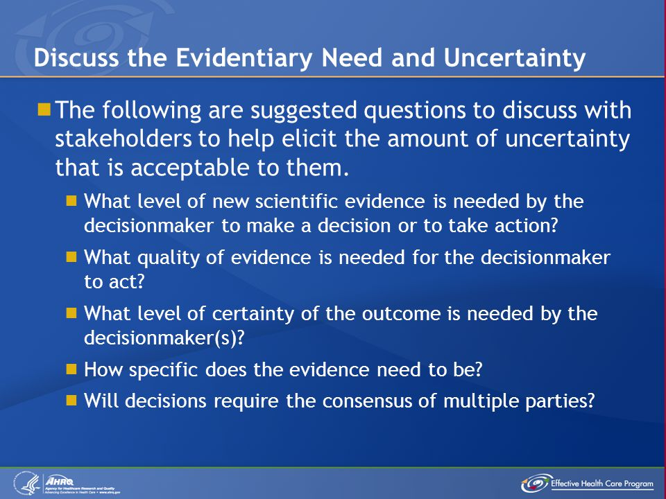  Discuss the magnitude of effect stakeholders believe represents a meaningful difference between treatment options a priori.
