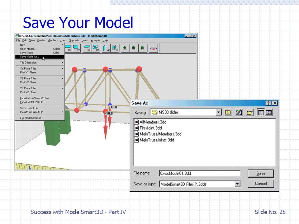 Success with ModelSmart3D - Part IV Slide No. 27 Add Loads