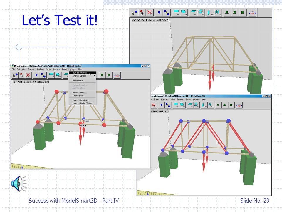 Success with ModelSmart3D - Part IV Slide No. 28 Save Your Model