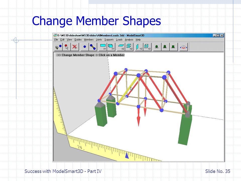Success with ModelSmart3D - Part IV Slide No. 34 Let's Fix the Bridge