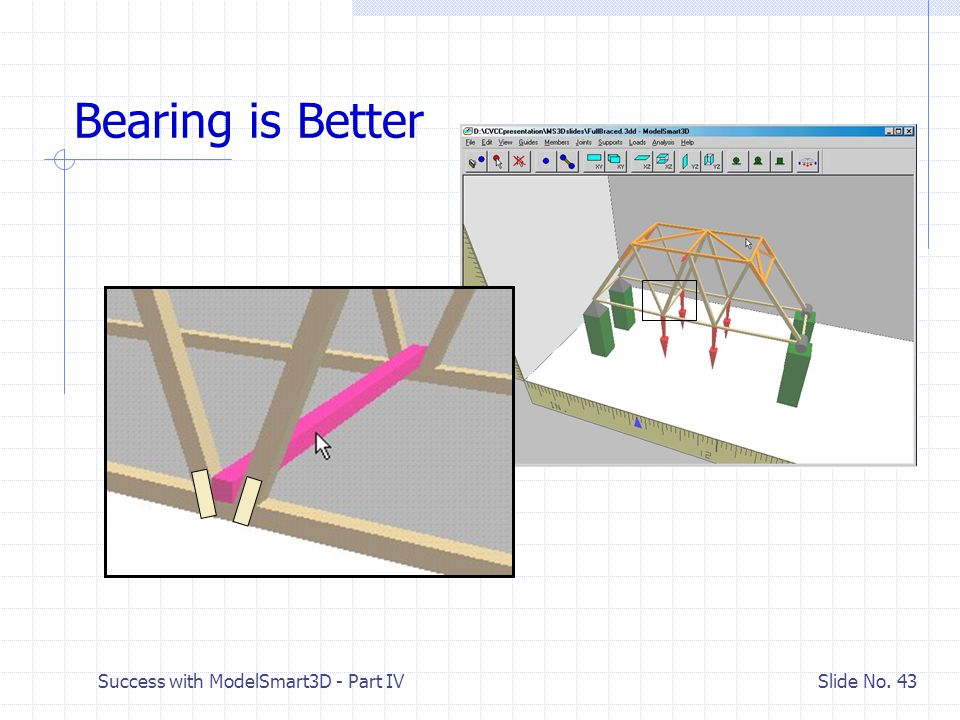 Success with ModelSmart3D - Part IV Slide No. 42 Where to Apply Load Block Forces