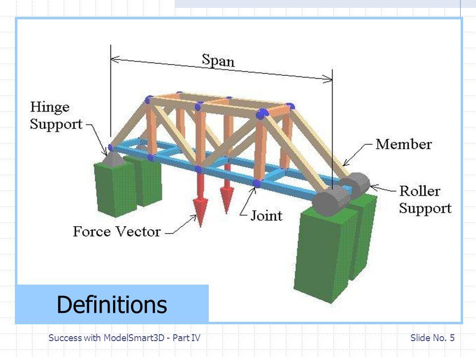 Success with ModelSmart3D - Part IV Slide No. 35 Change Member Shapes