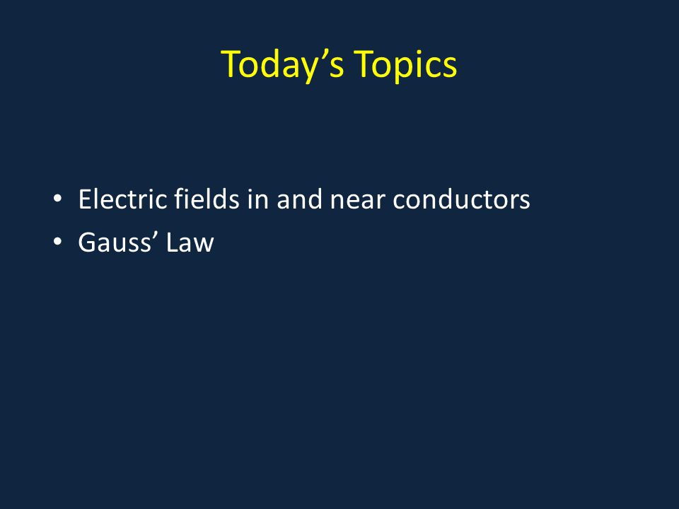 Electric Field Inside a Conductor If an electric current is flowing down a wire, we now know that it's actually electrons flowing the other way.