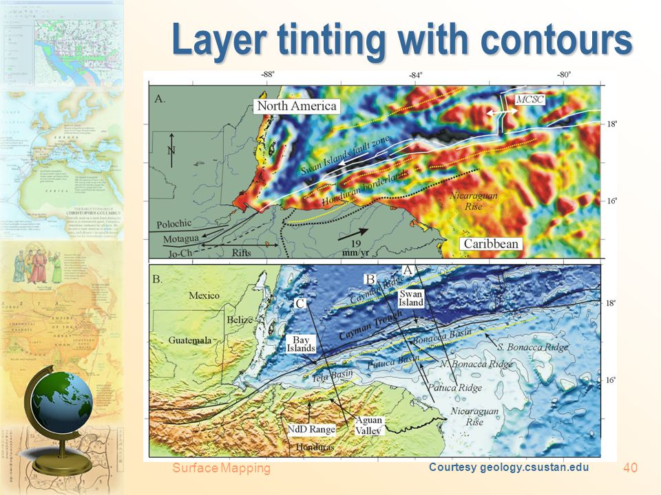 Surface Mapping39 Hypsometric colouring (layer tinting) Courtesy www.scilands.de