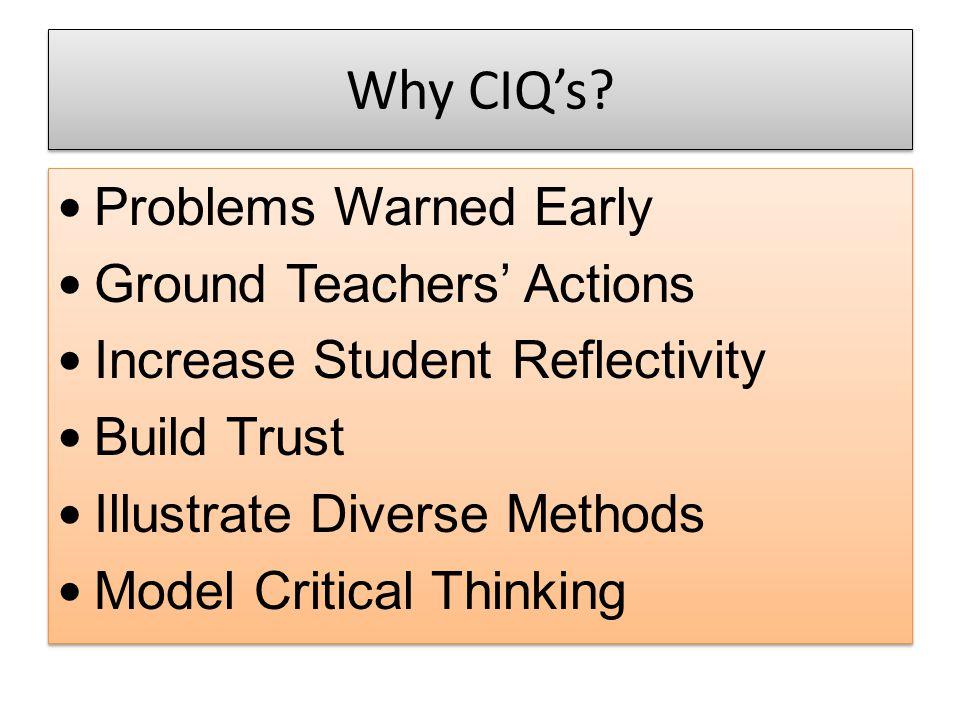 Why CIQ's.