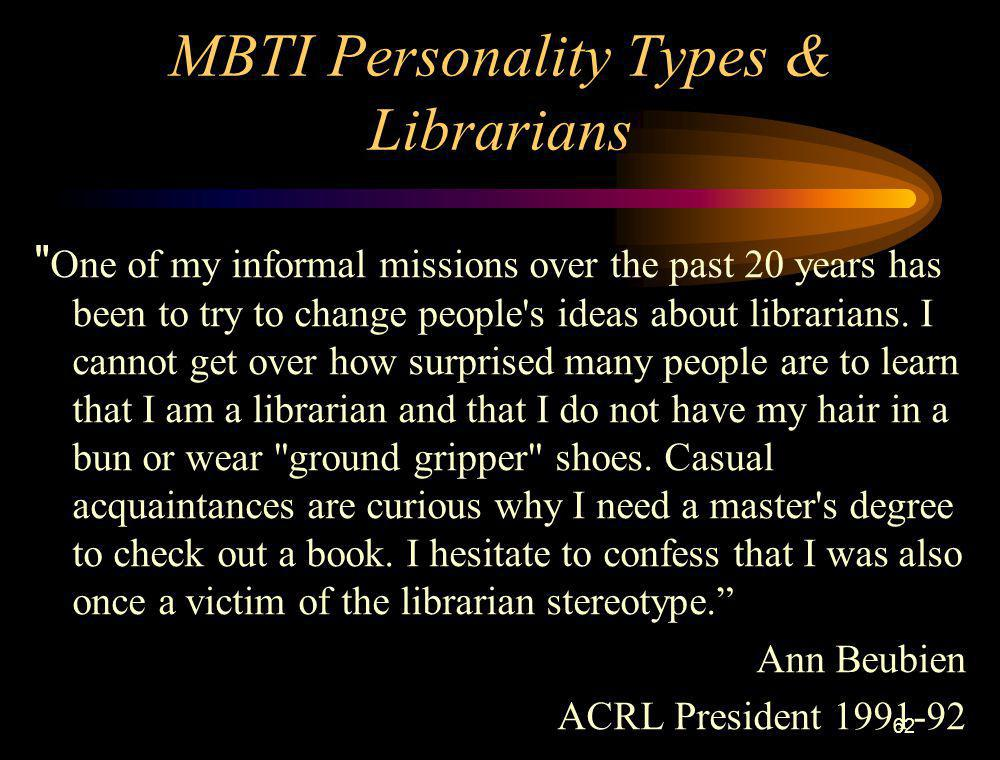 62 MBTI Personality Types & Librarians