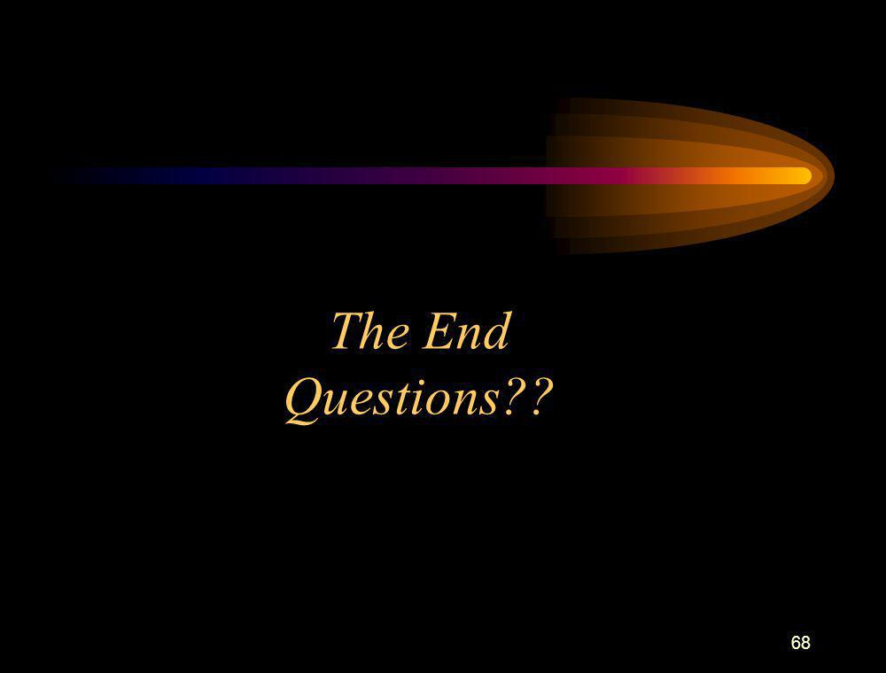 68 The End Questions??