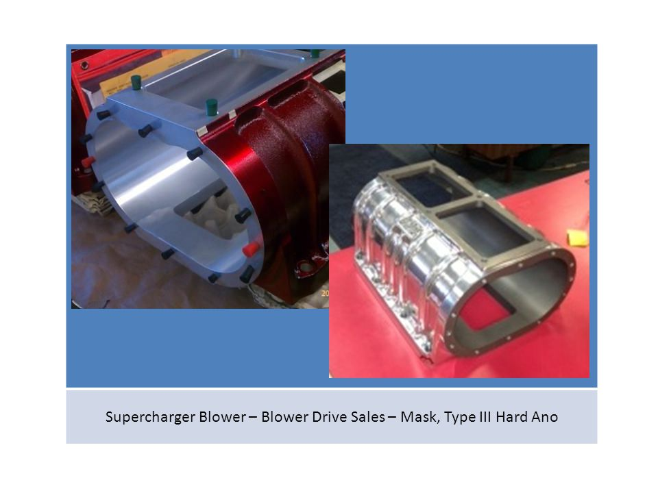 Supercharger Blower – Blower Drive Sales – Mask, Type III Hard Ano